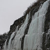 Thursday was a gray day around Anchorage.  These are frozen waterfalls along the Seward Highway, just south Anchorage.