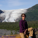 Nancy in front of the Exit Glacier