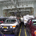 My FJ on the car deck of the ferry