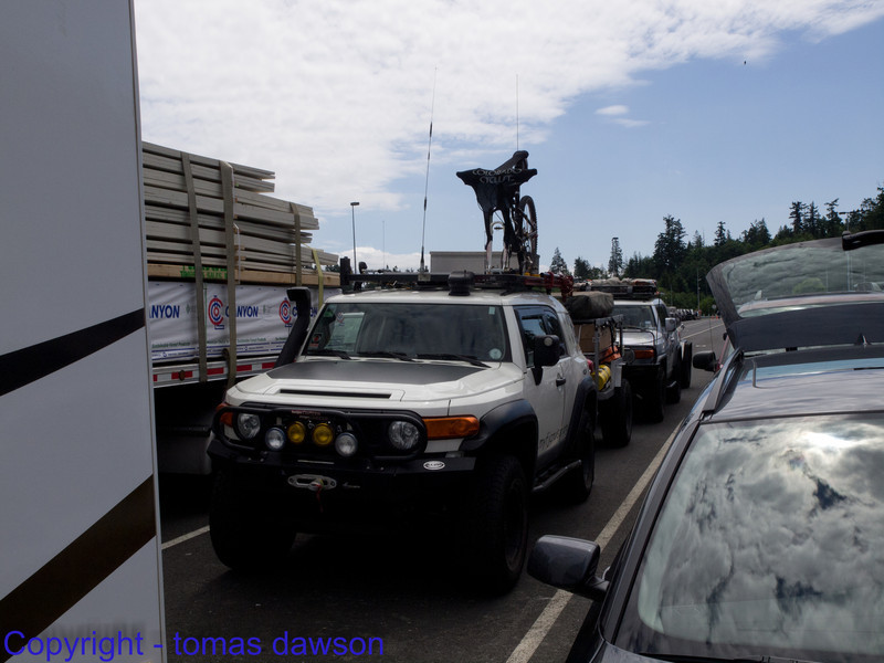 Queued up for the Ferry at Anacordes