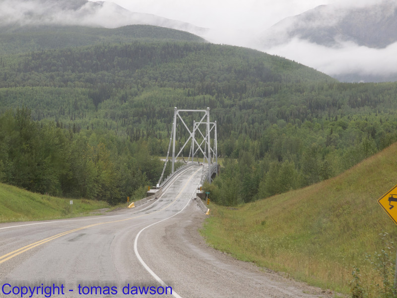 The last hanging bridge along the Alaska Highway