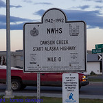 At the start of the Alaska Highway