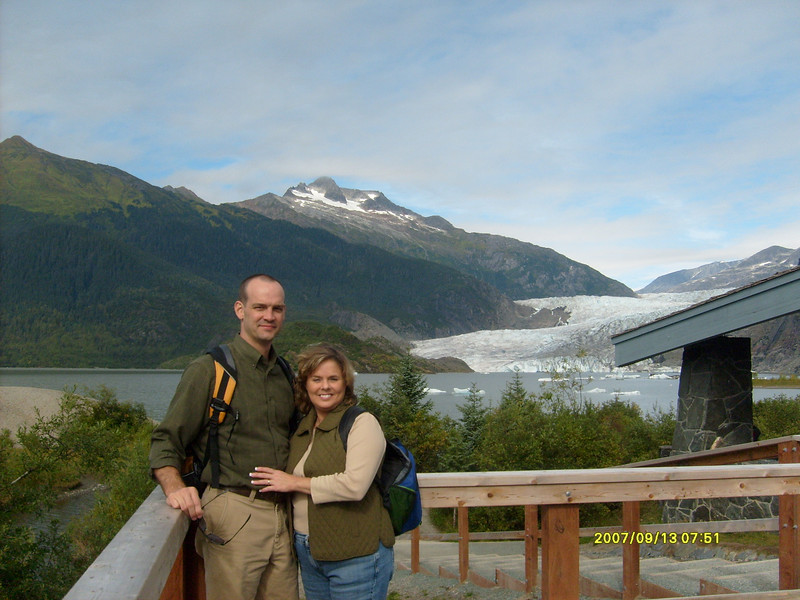 Great shot of us at Mendenhall Glacier.