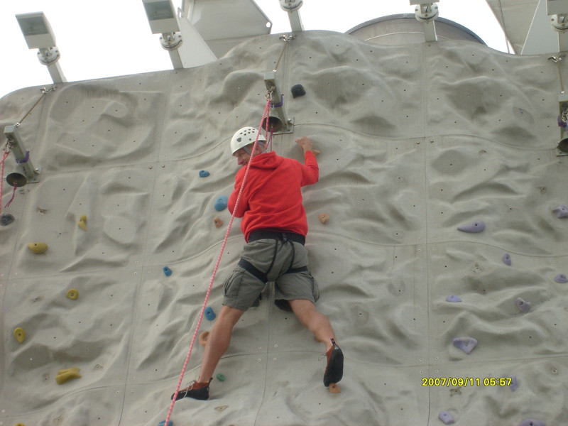 Dean from Rolla, MO was climbing too.  Dean and his wife Sally were there with Sterling Investors too.