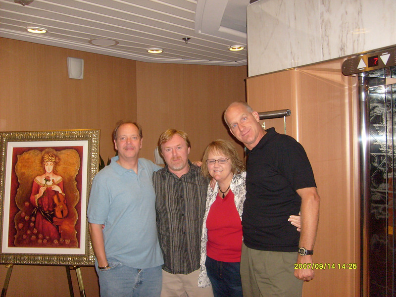 L-R  Peter and Rodney from PA and Sally and Dean from Missouri.  Sally looks like she's feeling good here.<br /> <br /> More of the Sterling Investors clan.