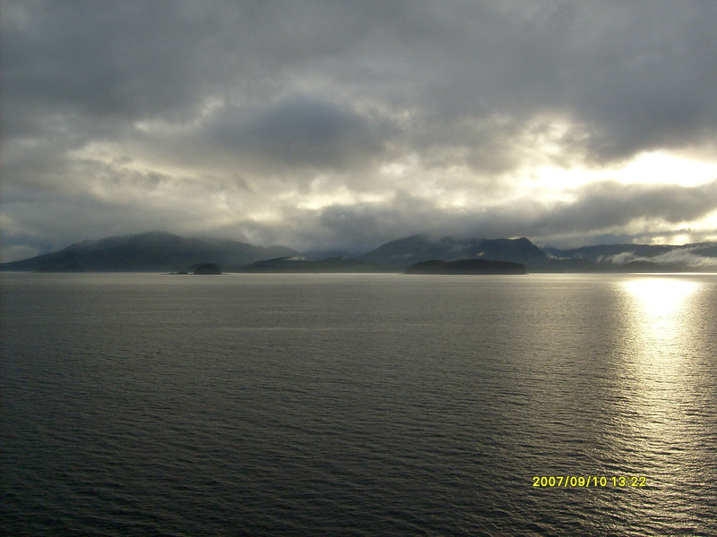 Sunset leaving Hoonah.