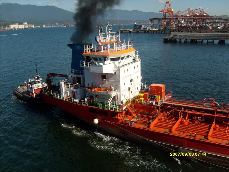 Fuel ship.