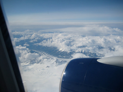 June 23, 2009 (On Delta Airlines flight somewhere over the Yukon Territory, Canada) - Mountain scenery