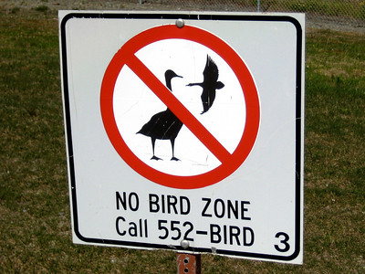 June 26, 2009 (Elmendorf Air Force Base, Alaska) - Sign posted just outside the runway