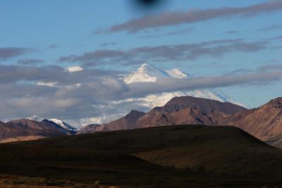 Mt. Mckinley behind clouds in Denali Park