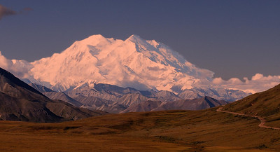 Full view of Mt. McKinley in Sunset