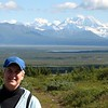 MaryAnne with Mountain Scenery @ Denali Highway