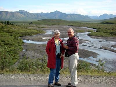 MaryAnne & David @ Savage River in Denali NP