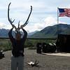 David Playing with Caribou Antlers @ Denali NP