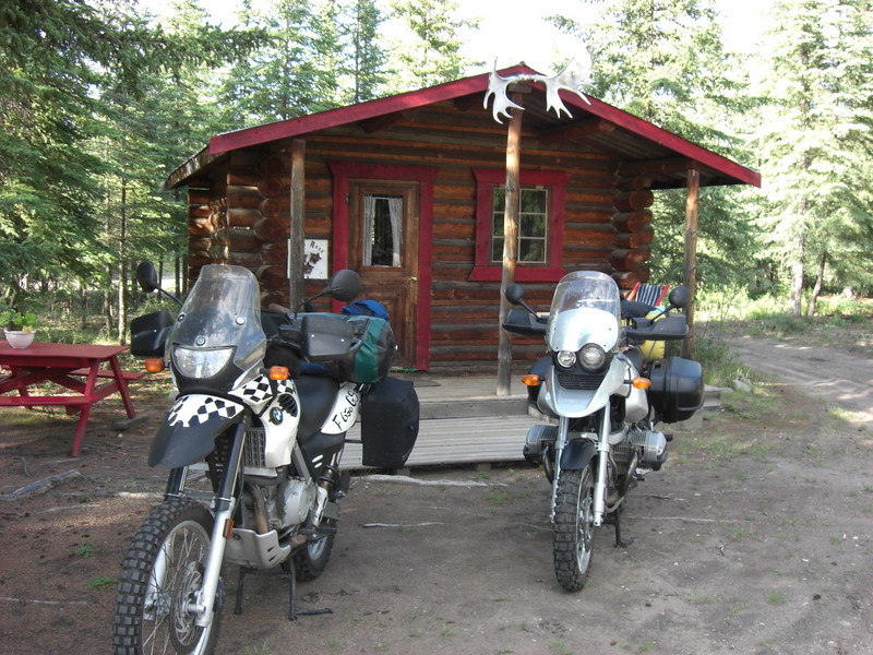 our cabin, moose creek lodge (yukon)