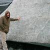 """Dan """"feeling up"""" the glacier"""