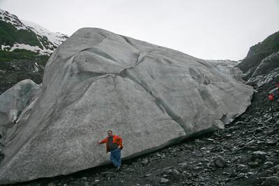 The Exit glacier north of Seward