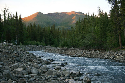 This was taken at around midnight just outside of our cabins on Carlo Creek, near Denali