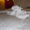 Towel animal left behind by our cabin stewards.  Is it a dog?  Is it a bunny?