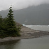 Down by the water and the Mendenhall Glacier.