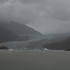 The Mendenhall Glacier in all its dirty glory on a rainy day.