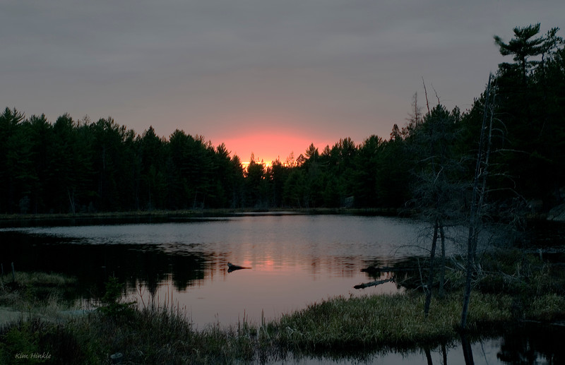 May 18th<br /> <br /> PEACEFUL SUNSET<br /> Algonquin Park, Ontario