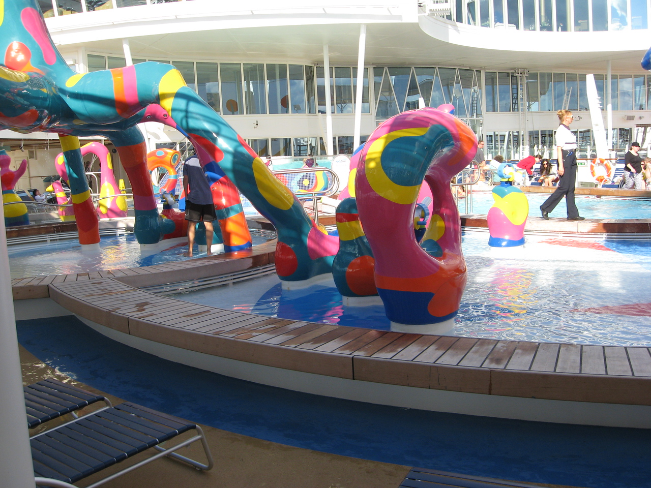 Children's water park on deck 16, pool deck.
