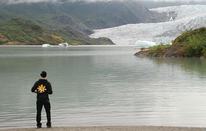 Travis at Mendenhall Glacier