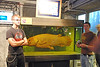 A real preserved coelacanth!!  With Travis and Cody