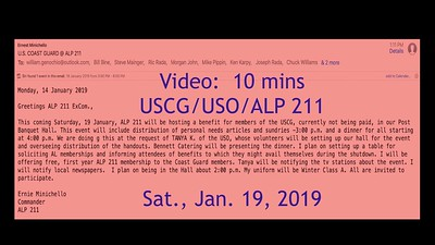 Video: 14 ~~ ALP 211 Hospitality--United States Coast Guard/USO Sat., Nov. 19, 2018