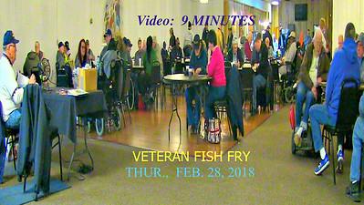 Vido:  9 mins ~~ American Legion Post 211, Avon Lake, OH hosts a Veterans Fish Fry, Thur., Feb. 28, 2019