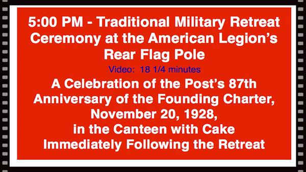 Video:  18 1/4 minutes~~American Legion Post 211, Avon Lake, OH 87th Birthday Retreat, 11-20-15