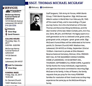 CLICK  HERE FOR ADDITIONAL ARTICLE ON MR. MCGRAW http://www.cleveland.com/metro/index.ssf/2017/09/services_this_week_for_lakewoo.html