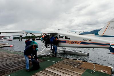 Boarding the float plane