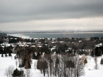 Grand Traverse Bay view from our hotel room