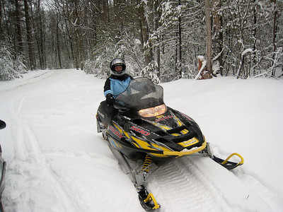Sally Snowmobiling
