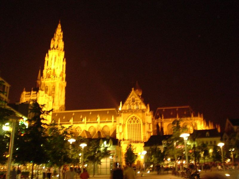 Cathedral by night.