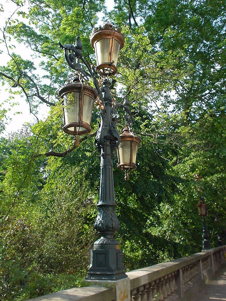 Beautifully restored street lanterns from way back when