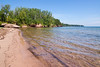 We had this beach in Washburn, WI all to ourselves for over an hour.  The water wasn't too cold (for Lake Superior) and we had fun looking for agates.