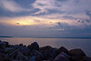 Sunrise from break water at Apostle Islands Marina