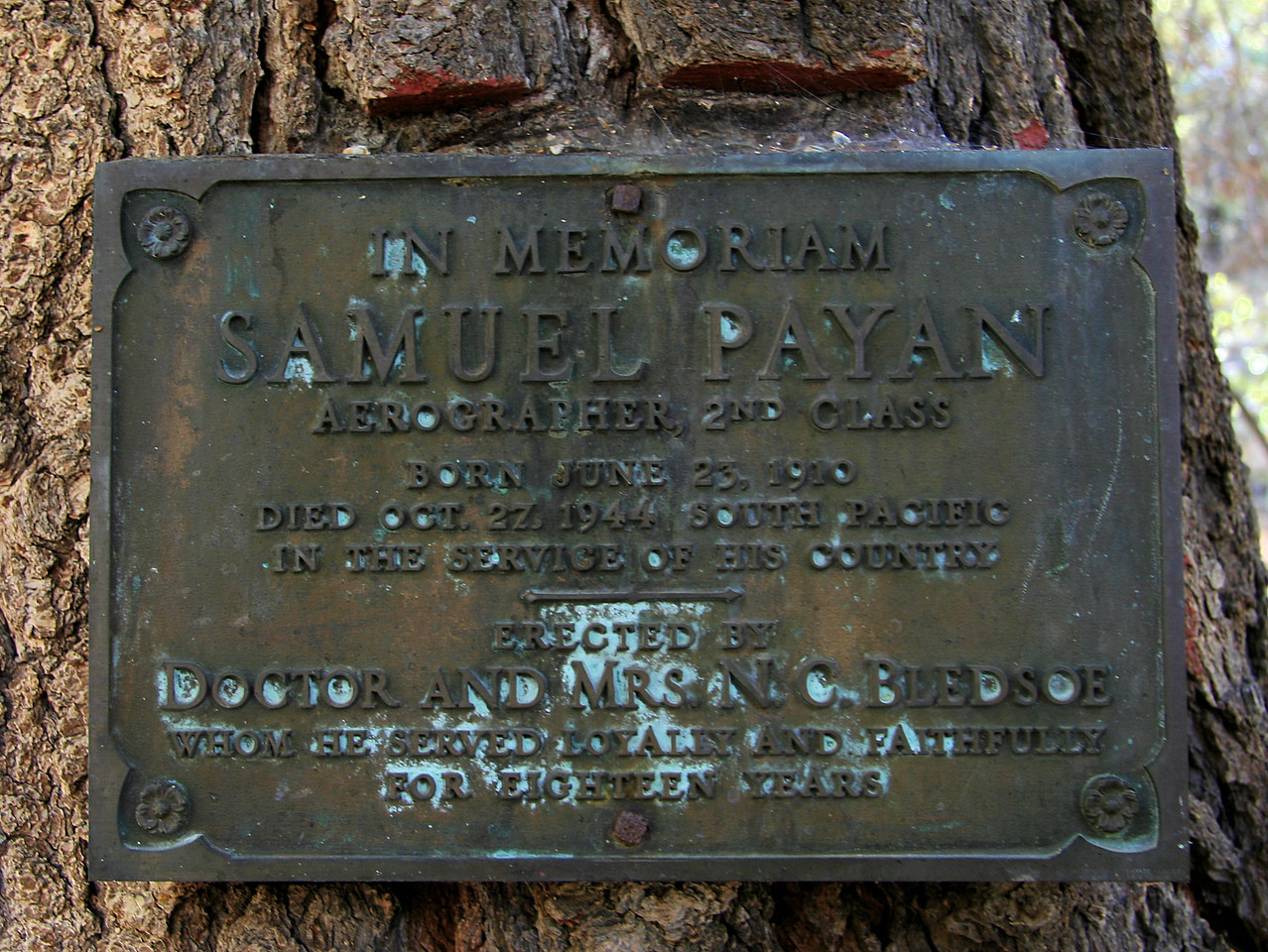 Samuel Payan Memorial Sign