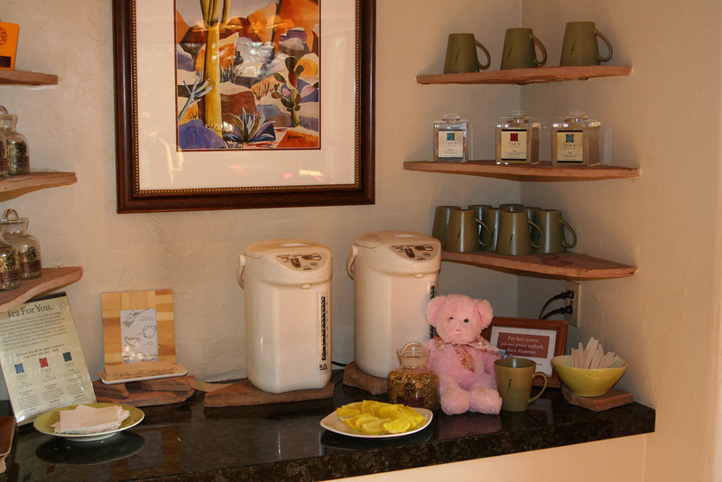Lots of tea, snack stations throughout the resort.
