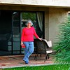 Peoria, AZ; Westbrook Village; Hidden Palms; casita; Cathy on back patio