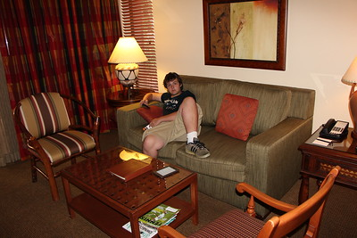 Matthew in Living Room of Timeshare