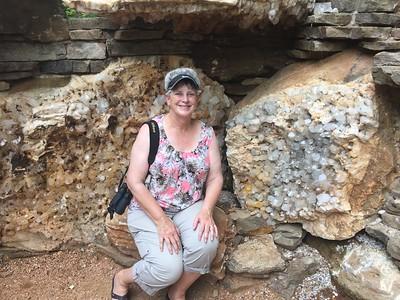 MaryAnne with Quartz Crystals @ Crystal Bridges Museum [Trails]