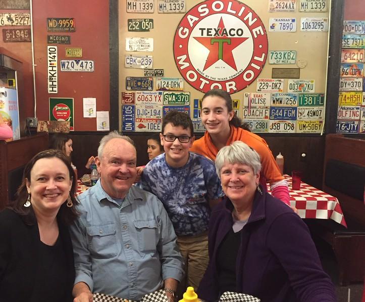 Cristen, David, Brendan, Grace, & MaryAnne @ The Station Cafe