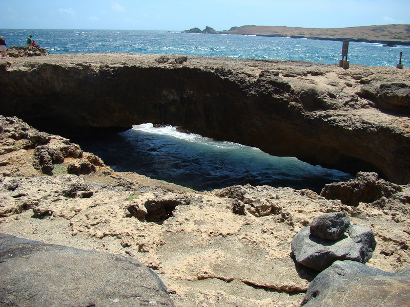 Here is a smaller natural bridge.