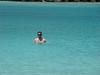 Evan enjoying the water in the lagoon.