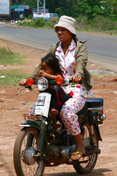 On the road from Phnom Penh to Siem Reap.