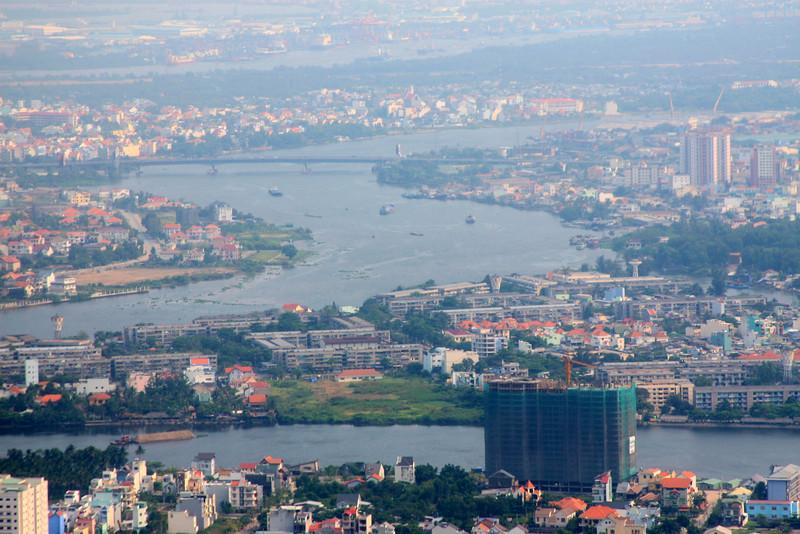 Saigon from the plane